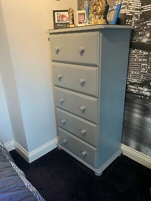 Solid pine tall boy and 2 small chest of drawers