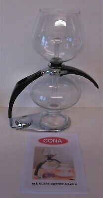 Cona Coffee Maker Dtm 1.1 Litre ( 2 Pints) Excellent Cond.chrome Finish Stand