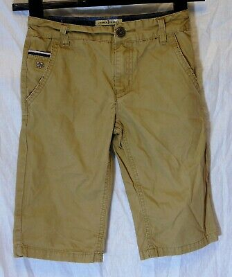 Boys Jasper Conran Stone Brown Chino Denim Adjustable Waist Shorts Age 8 Years