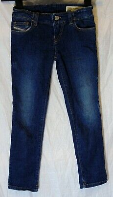 Boys Diesel Blue Distressed Denim Super Slim Skinny Stretch Jeans Age 6 Years