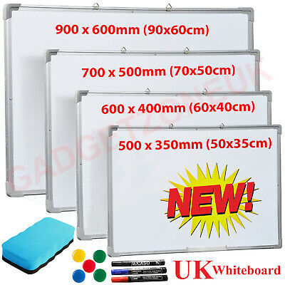 Magnetic Whiteboard Small Large White Notice Board Dry Wipe School Office Home.