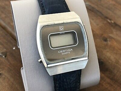 Vintage Rare Certina Digital LCD Swiss Made Watch For Parts