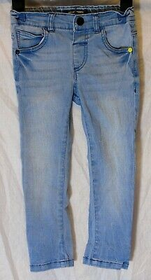 Boys Next Stonewashed Light Blue Whiskered Denim Skinny Fit Jeans Age 2-3 Years