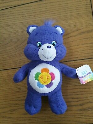 "2016 Care Bears 9"" Harmony Bear Plush, Soft Toy, Teddy, Warm 'n' Cosy Knitted."