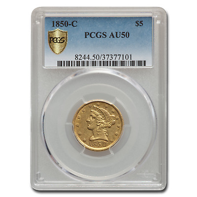 1850-C $5 Liberty Gold Half Eagle AU-50 PCGS - SKU#103620