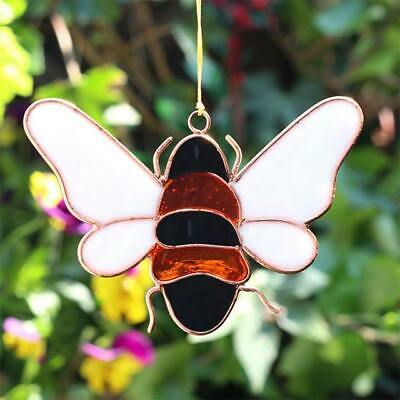 Bumble Bee Sun Catcher Stained Glass Hanging Window Decoration Copper Suncatcher