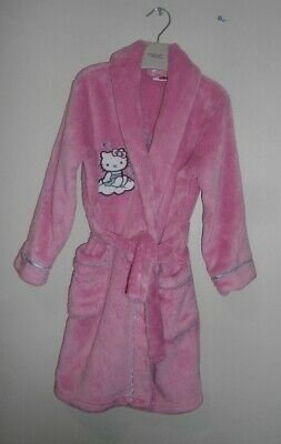 Hello Kitty Pink Soft Fleece Dressng Gown Robe Age 4-5 Years - Debenhams