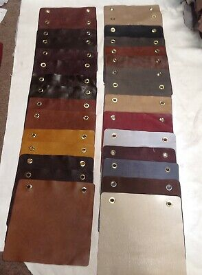 30 Leather Cowhide Swatches DD750. Leather Pieces, Leather Remnants