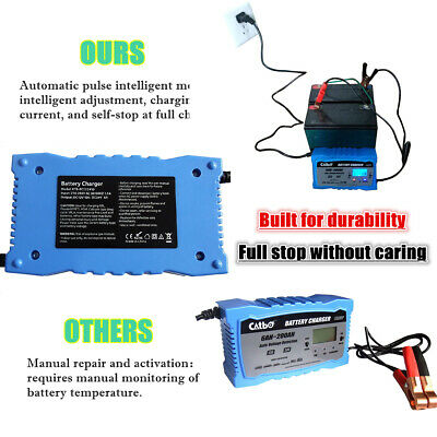 10 Amp Car Battery Charger Intelligent Pulse Repair Jump Starter AGM/GEL 12V 24V