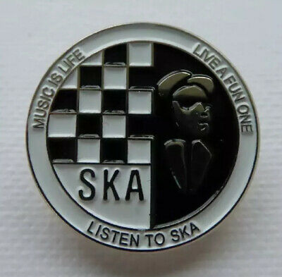 Skins Scooters Michelin Man Scooter Enamel Pin Badge Mods SKA OI