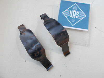 1986 Mercedes R107 560SL Rear trunk battery box metal Straps SHORT SET 107790