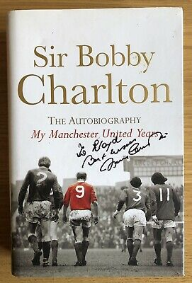 SIR BOBBY CHARLTON Manchester United England Football Hand Signed Autograph Book