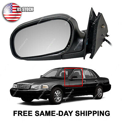 Power Side View Mirror Driver Left LH for 98-11 Crown Victoria Grand Marquis