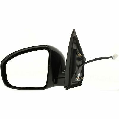Mirror Power Heated Smooth Black Driver Side Left LH for 09-13 Nissan Murano