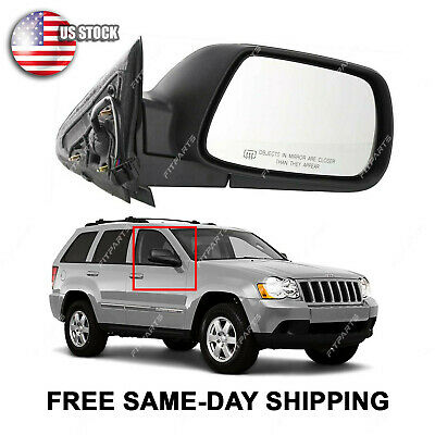 55156880AA CH1321169 Mirror New Right Hand Heated Passenger Side RH for Jeep