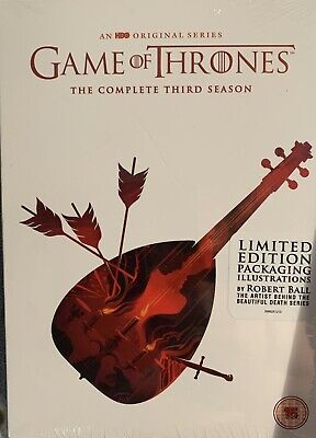 Game Of Thrones Season Three (3) Limited Edition Packaging New Sealed DVD Set