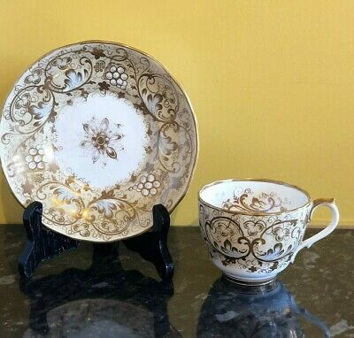 Antique Samuel Alcock teacup and saucer - circa 1830