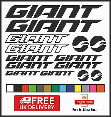 Giant Vinyl Decals Stickers Set x 14 Bike Frame Cycle Cycling Bicycle MTB Road