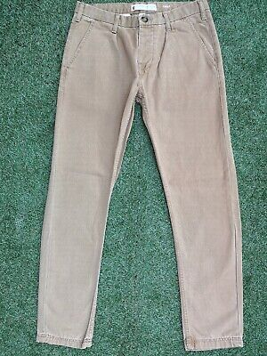 River Island ~ Mens Carrot ( Sand ) Straight Fit Cut Chino Trousers ~ W30 L32