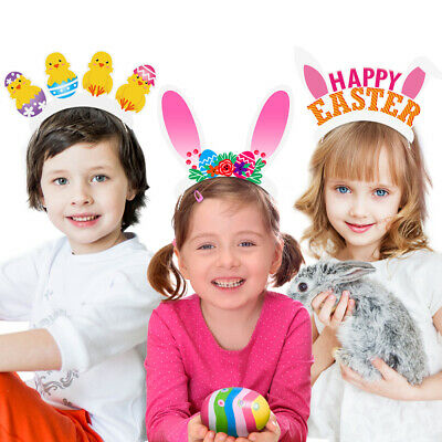 Amosfun 12PCS Easter Headbands Headband Party Accessory for Kids Babies