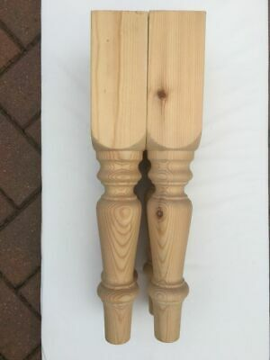 """Set of 4 Solid Pine Farmhouse Coffee Table Legs 69*69*425mm  Ex 3/"""" A3FHC"""