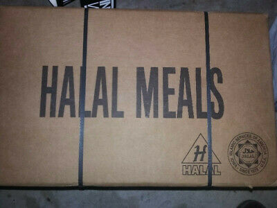 Halal MRE authentic case military, rare, hard to come across