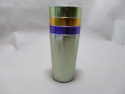 4 Anodized Aluminum Drinking Tumblers 8 Oz Vintage Retro Glasses Water Cup