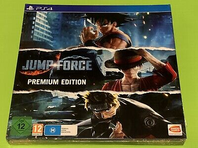 Jump Force Premium Edition (Sony PS4) Game Character Pass Steelbook 3 Art Boards