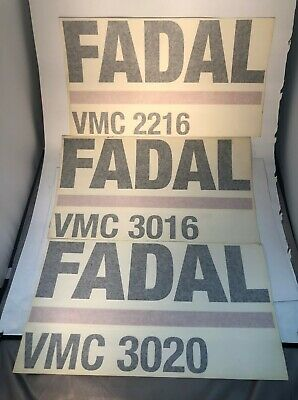 Fadal Cnc Machine Stickers