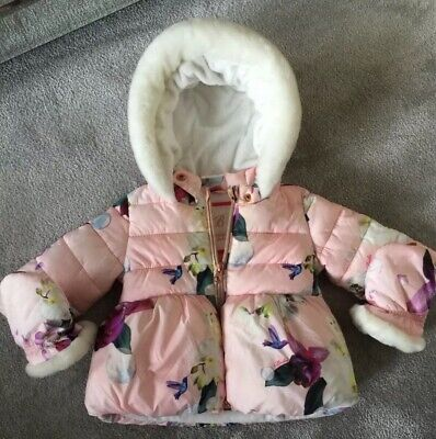 TED BAKER baby girl coat age 6-9 months excellent condition