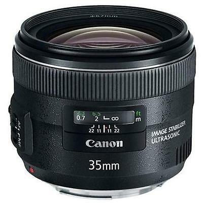 Canon EF 35 mm f/2.0 IS UMS. Clean body and glass.
