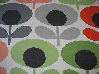 Orla Kiely Oval Flower Tomato 200cm /100cm drop cotton fabric lightweight new