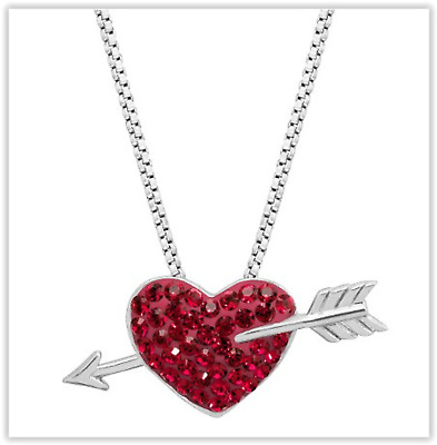 Crystaluxe Heart & Arrow Pendant With Swarovski Crystals