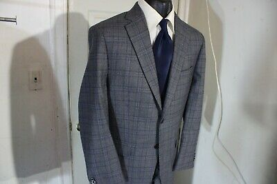 *New*  Michael Kors Size 40R Gray Plaid 2 Button Suit W/Dual Vents