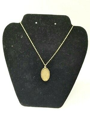Gold Tone Miraculous Medal Mother Mary Necklace & Pendant