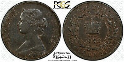 REDUCED! Newfoundland 1880 Large Cent Oval 0 PCGS XF-40 Ultra Rare NFLD Canada!!