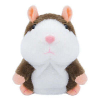 Brown Cute Talking Nod Hamster Mouse Repeating Pet Plush Toy Kids Gift