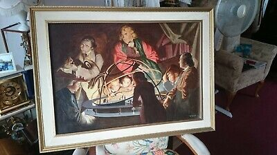Astronomer Lecturing On The Orrery - Oil Painting