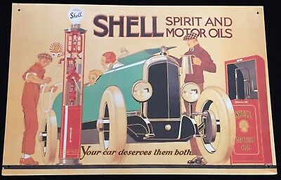 Shell Spirit And Motor Oils Metal Plaque Sign Garage Sale In France Used