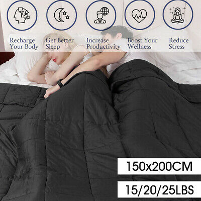 9 Kg Premium Weighted Blanket Heavy Sensory Relax Therapy 150x200 CM AU