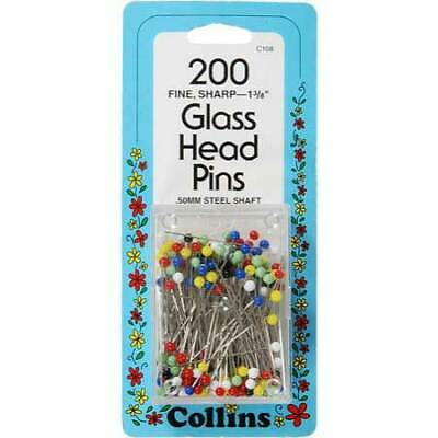 "60 Count #117 T-Pins By Collins Fine Sharp 1-3//4/"" Size 28"