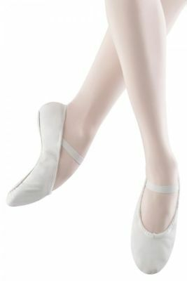 Bloch Arise White Leather Ballet Shoes Size 3.5 B (UK)