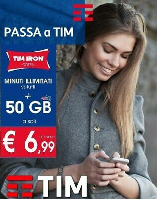 Coupon Passa A Tim Iron  50Gb Minuti Illim €6,99 Da Tre, Lycamobile E Homobile!