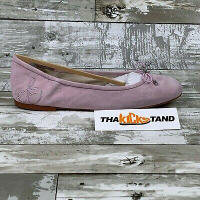Sam Edelman Felicia 2 Fuchsia Pink Ballet Flats Perforated Suede Womens Sizes
