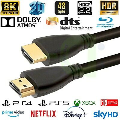 HDMI 2.1 8K Cable support 3D HDCP 2.2 4k@120HZ 8K@60HZ Full HD HDTV Dolby Atmos