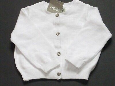 Next Baby Clothes Girls White Cardigan  6/9  Months