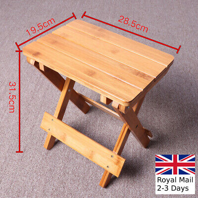 Wooden Folding Stool Portable Household  Wood Outdoor Fishing Small Kids Chair