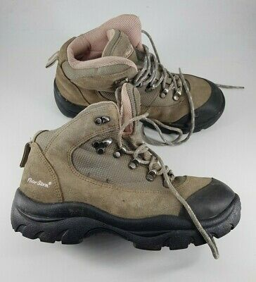 Peter Storm size 5 (38) grey / pink suede waterproof lace up walking boots