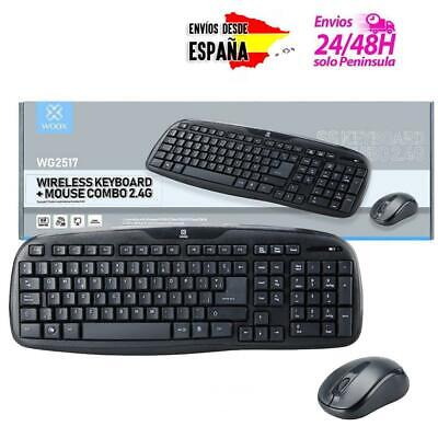 Pack de teclado + ratón wireless inalámbricos 2.4G para oficina casa PC windows