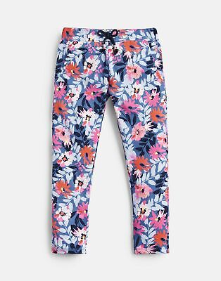 Joules Girls Jazz Printed Joggers  - BLUE FLORAL